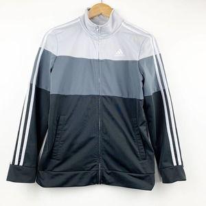 ADIDAS Gray Colored Block Jacket 14 / 16